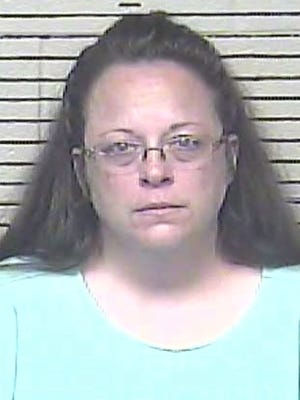 Rowan County Clerk Kim Davis went to jail Sept. 3, 2015, for refusing to issue marriage licenses to gay couples.