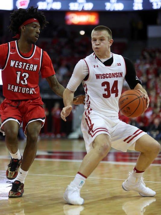 NCAA Basketball: Western Kentucky at Wisconsin