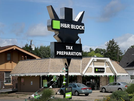 The former Roselyn Bakery at 3802 Ruckle St. is now an H&R Block Tax Preparation location.