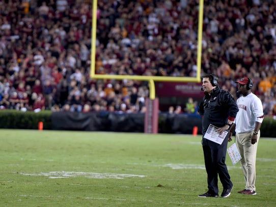 South Carolina head coach Will Muschamp, during the