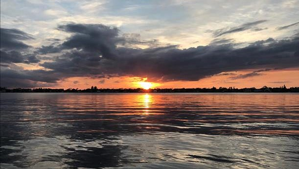 Sunset on the St. Lucie River in Martin County. Reader-submitted photo