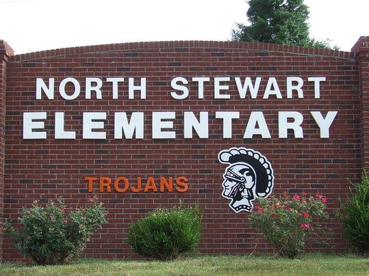 North Stewart Elementary School sign.JPG