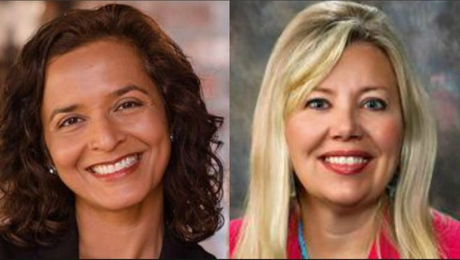 Hiral Tipirneni, the Democratic nominee (Left) and Debbie Lesko (right), the Republican nominee.