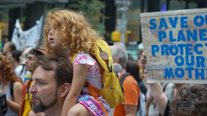 Attendees of the Peoples Climate March in New York City.