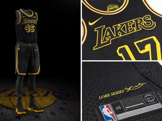 The Los Angeles Lakers' Nike City Edition uniform.