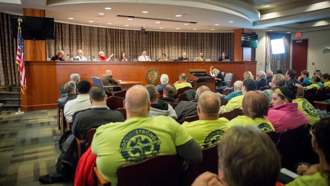 A large crowd came out to and then promptly left the Muncie City council meeting on Jan. 8 after the council tabled the proposed EMS takeover plan that would have created a city based EMS.