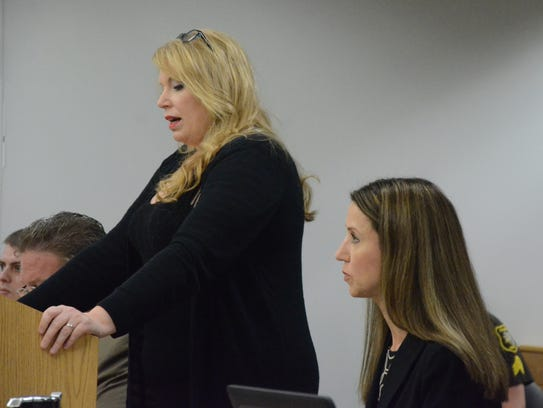 Kymberly Schroder argues for a delay in the trial of