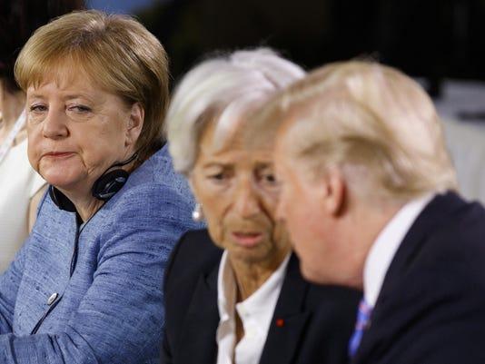 Donald Trump,Angela Merkel,Christine Lagarde
