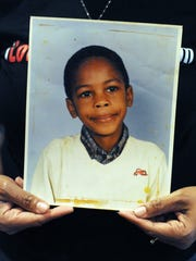 This is a photograph of Army Sgt. Anthony Magee of Hattiesburg as a young boy. Magee was 29 when he was fatally wounded during an ambush by enemy forces in Iraq.