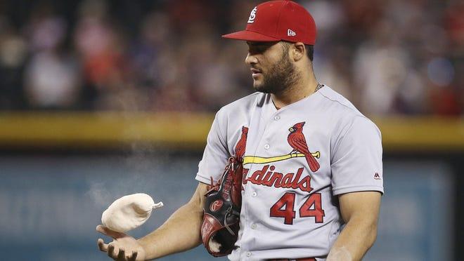 St. Louis Cardinals relief pitcher Junior Fernandez.