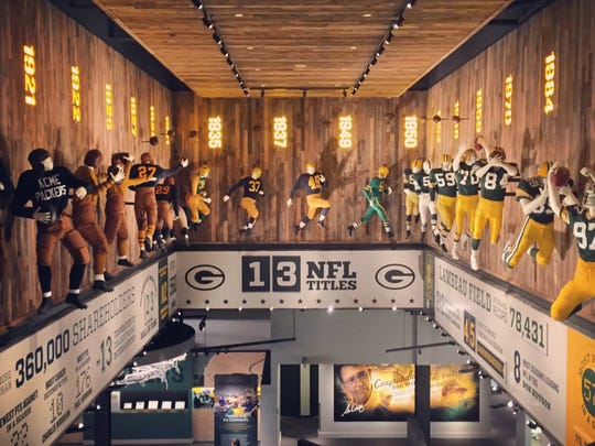 Opened in 2015, the Packers Hall of Fame is located right in the Lambeau Field Atrium.
