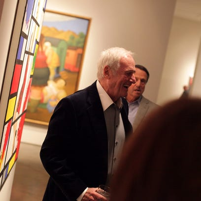 Movie producer Jerry Weintraub attends a reception for artist Sherry Wolf at the Imago Galleries in Palm Desert on Friday.  Richard Lui/The Desert Sun Movie producer Jerry Weintraub attends a reception for artist Sherry Wolf at the Imago Galleries in Palm Desert on Friday, March 7, 2014.