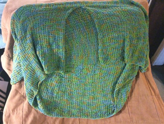 This is the green bamboo Kiama sweater I started last