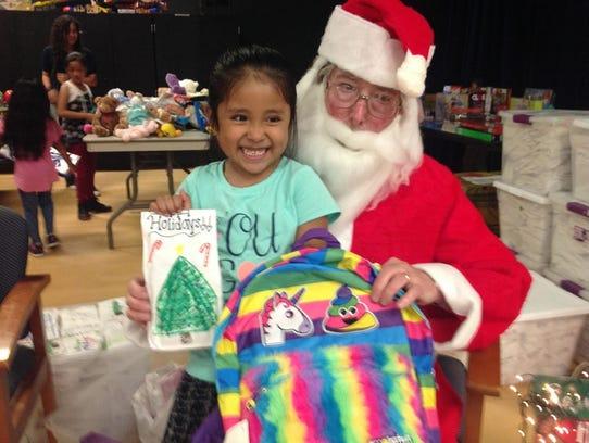 Bob Carron of Generous Heart Ministry served as Santa
