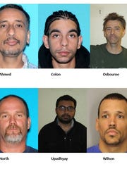 Police arrested these six men after they came to a