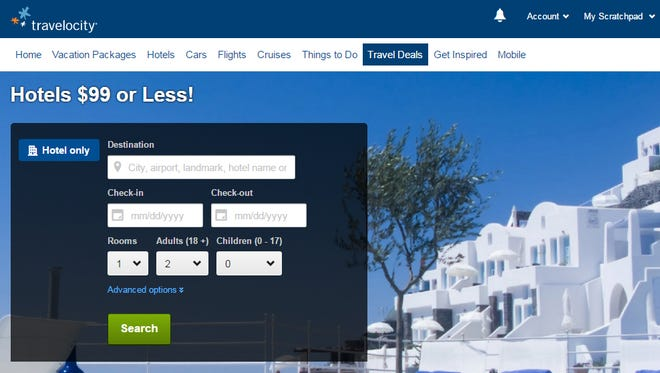 Find hotels for $99 or less on Travelocity.
