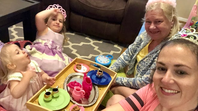 Grab the tea set and tiaras. Make the best of being cooped up inside by having a tea party with homemade cookies or cupcakes.