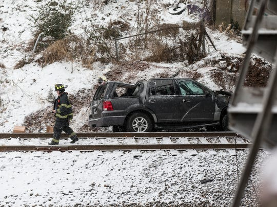 An SUV traveling Wednesday, Jan. 17, 2018 on Lombardy