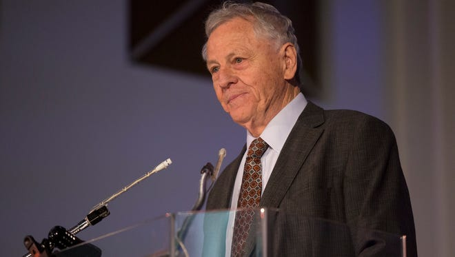 Civil rights lawyer and co-founder of Southern Poverty Law Center, Morris Dees speaks to the Detroit Unity Temple in Detroit.