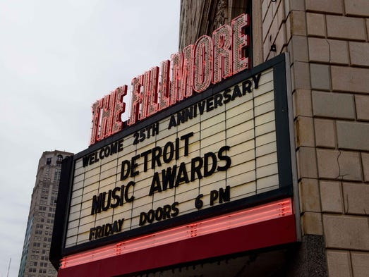 The 25th Detroit Music Awards at the sold out Fillmore