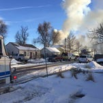 Crews battle garage fire in east Fort Collins
