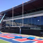This photo from late March shows the progress made on Louisiana Tech's south end zone facility. The $20-plus million project is expected to be finished by August.