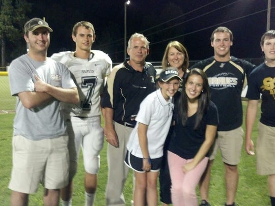 The Renfrow family shown here when Hunter played at Socastee High School in Myrtle Beach.