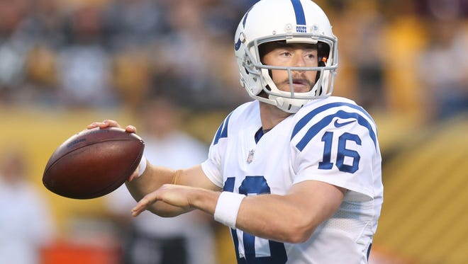 In his only regular season start as a Colt, Scott Tolzien went  22-for-36 for 205 yards for one touchdown and one interception.