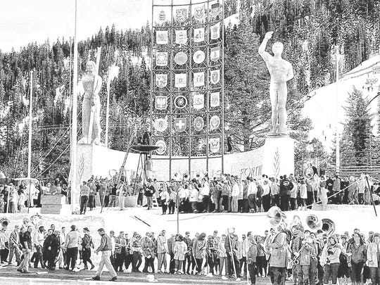 There were 665 competitors during the 1960 Winter Olympics in Squaw Valley.