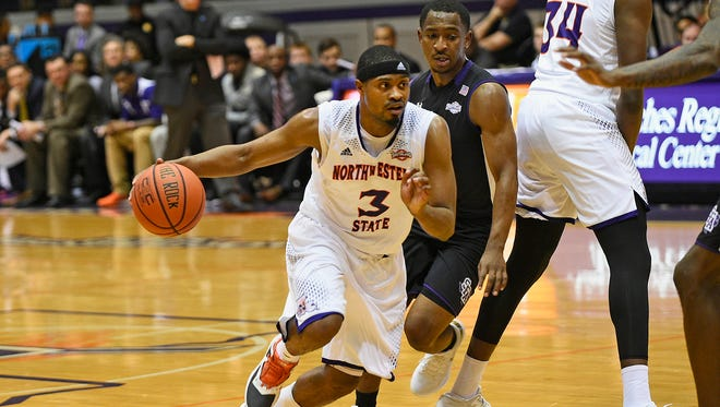 Devonte Hall helped lead Northwestern State to a comeback win at Stephen F.  Austin on Thursday night.