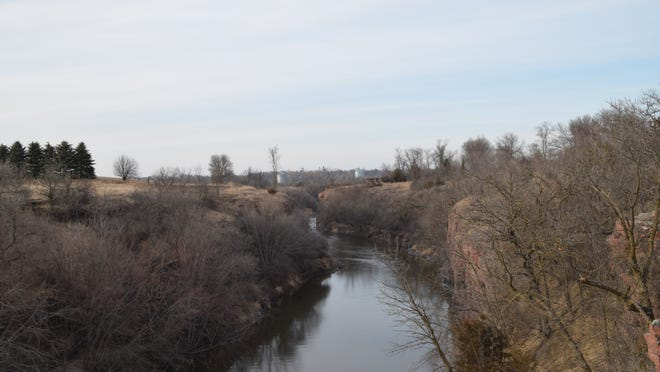 The Dells of the Big Sioux River provide a glimpse of nature's beauty in Dell Rapids. The scenic cliffs provided a great draw to early settlers.