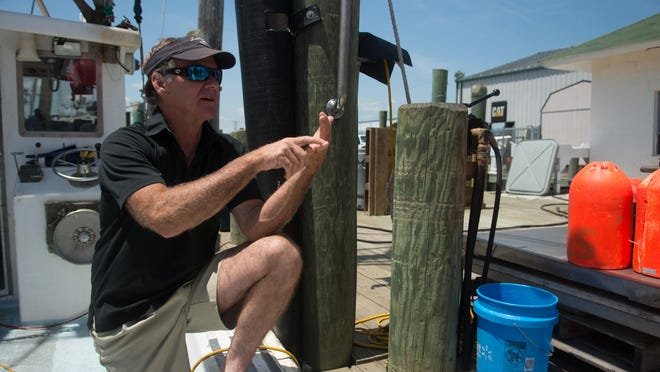 Capt. Kerry Harrington's boat is his home for days at a time when he is out fishing.