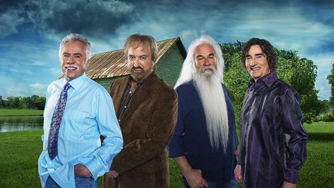 The Oak Ridge Boys — Joe Bonsall, Duane Allen, William Lee Golden and Richard Sterban — return to Branson for the fall season starting Wednesday. They'll be inducted into the Country Music Hall of Fame Oct. 25.