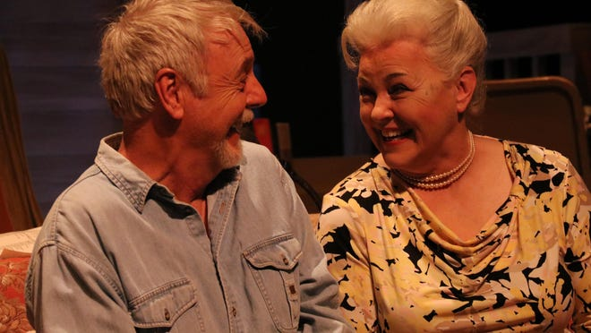 "Charlie Ferrie as Charlie Aiken and Judith Allen as Mattie Fay Aiken in OpenStage Theatre's production of ""August: Osage County"" by Tracy Letts."
