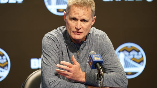 Steve Kerr applauded MLB's decision to move the All-Star Game from Atlanta this summer after the state of Georgia passed voting bills that will disproportionately affect citizens of color.