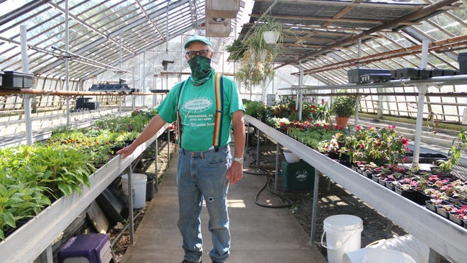 Jeff Mance, owner of Jeff's Garden Shop in Matamoras, Pa., keeps starting new plants as plants sell out.
