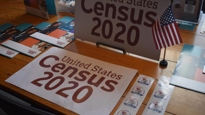 Information about the 2020 U.S. Census was on display March 13 at a mobile Questionnaire Assistance Center at 2 Alice's coffee shop in Newburgh. [LANA BELLAMY/TIMES HERALD-RECORD]]