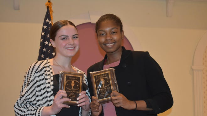Goshen senior guard Erin Smith (left) and Monroe-Woodbury senior guard Toni Neely were named the Section BCANY players of the year in Class A and Class AA respectively.