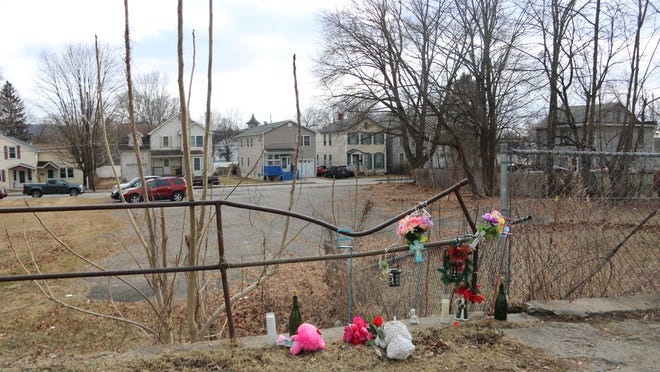 A 22-year-old woman left her newborn daughter to die in this lot near Hornbeck and Orange Streets in Port Jervis.