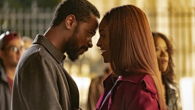 """Michael Block (LaKeith Stanfield) and Mae Morton (Issa Rae) in """"The Photograph,"""" now available for home streaming"""