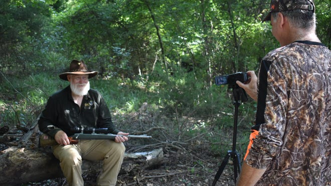 """Jeff Rice shoots a video of Larry Weishuhn for an upcoming episode of """"A Sportsmans Life."""""""