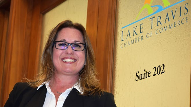 Laura Mitchell, president of the Lake Travis Chamber of Commerce, is hopeful her agency can win an upcoming bid to bring a statewide firefighters pension conference to Lakeway.