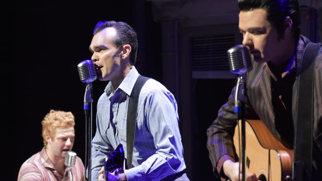 "James Barry, who played Carl Perkins in the Cape Playhouse production of the musical ""Million Dollar Quartet,"" will be part of an Aug. 28 concert on the lawn at the Dennis theater titled ""A Night of Johnny Cash and Carl Perkins."""