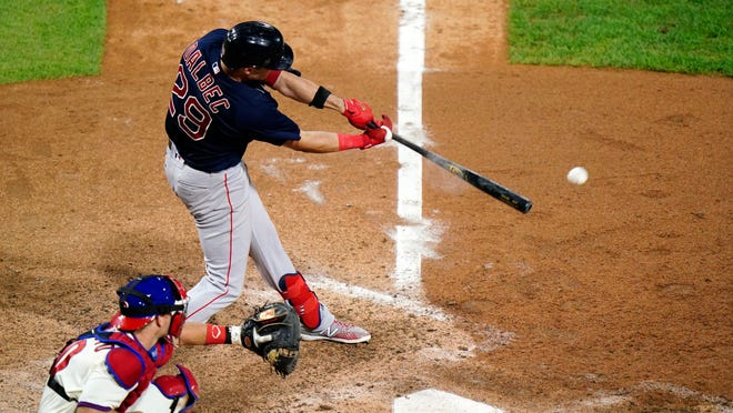 Bobby Dalbec's run-scoring single off former Red Sox reliever Heath Hembree in the seventh inning added insurance in Boston's 5-2 win over Philadelphia in the second game of Tuesday's doubleheader.