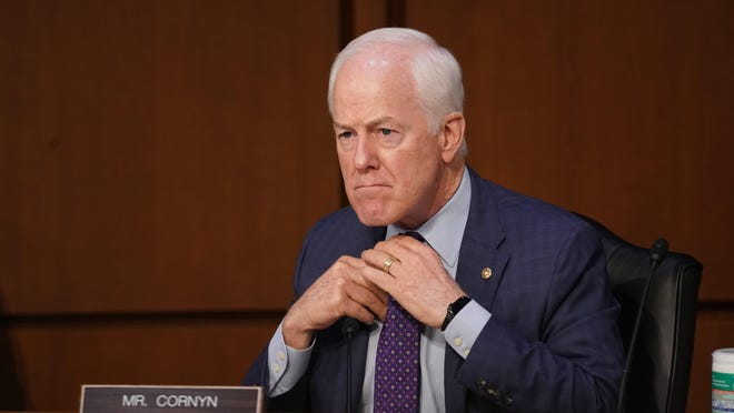 U.S. Sen. John Cornyn, R-Texas, listens Monday during the confirmation hearing of Amy Coney Barrett before Senate Judiciary Committee.
