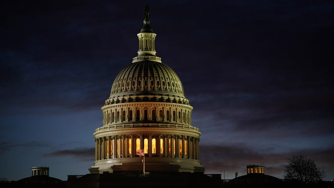 The Capitol is seen on the morning of Election Day, Tuesday, Nov. 3, 2020, in Washington.