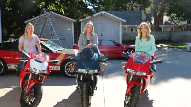 "Amy Johnston, left, Debbie Evans and Donna Evans in ""Stuntwomen: The Untold Hollywood Story."""