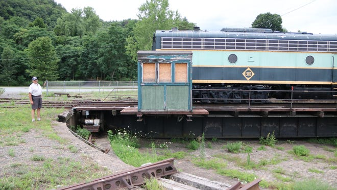 The train turntable area where the Port Jervis Transportation Museum is planned will soon become a trail origin as the Port Jervis Outdoor Club takes over management of the land surrounding the tracks. Turntable footings will provide a shelter base for transportation exhibits, says Mike Ward, Port Jervis Outdoor Club president.