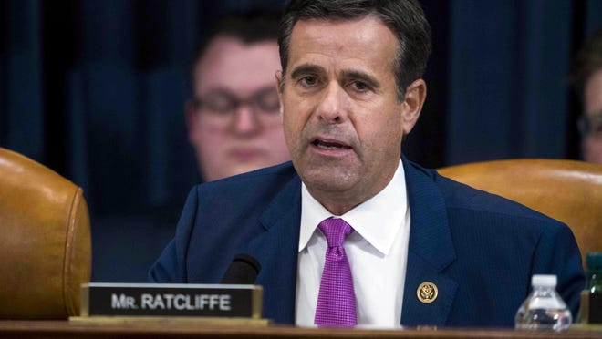 In this Dec. 9, 2019, file photo, Rep. John Ratcliffe, R-Texas, during the House impeachment inquiry hearings in Washington.