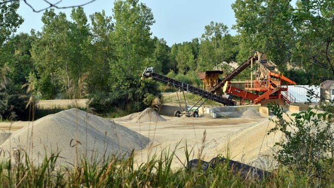 This gravel pit off M-86 west of Branch Road will be expanded by nine acres.